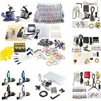 2017 Complete Tattoo Kits Tattoo Machine Guns Set Ink Needles Power Supply Grip