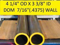 "E0077 DOM ROUND STEEL TUBE  1.750/"" OD  X   1.375/""  ID 36/""  LONG .187 WALL"
