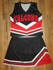 FALCONS Adult Large XL Cheerleader Uniform Outfit Halloween Costume FUN Red/Blk