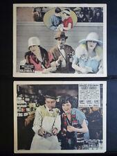 1924 GOLD HEELS - 5 HORSERACING LOBBY CARDS - SILENT - TRACK BETTING - GAMBLING