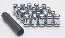 Set of 20 12x1.5 Chrome Spline Lug Nuts with Key for Aftermarket Wheels