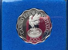 Franklin Mint Casino Estoril Sun Coast Portugal Silver Gaming Coin Token D9072