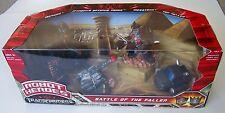 Transformers Robot Heroes Battle of Fallen Optimus Ironhide New box has damage