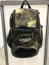 Speedo Large Teamster Backpack Swim Bag 35 L Liter Camo Brown Green Excellent