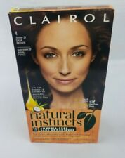 Clairol Natural Instincts 4 Former 28 Dark Brown Hair Color Fresh Scent New