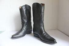Buffalo Cowboy High Boots Bikerstiefel voll Echtleder Schwarz Eu:38 aus Mexico