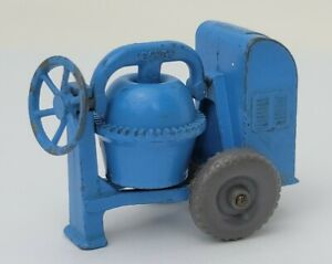Vintage MOKO Lesney Matchbox No. 3A2 Blue Cement Mixer Die-Cast Toy Gray Wheels