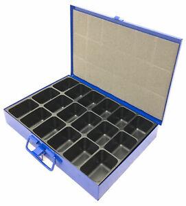 Metall Sortimentskasten Sortimentskoffer Kleinteilekoffer mit Einleger 8 Fächer