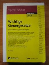 Wichtige Steuergesetze mit Durchführungsverordnungen, nwb Textausgabe, 2014