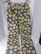 Replay Vintage Jeans Women Pants Denim Size 32 X 33 High Rise Floral Flowers NWT