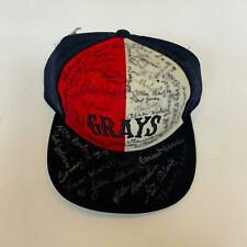 Rare Negro League Greats Signed Homestead Grays Hat With 56 Signatures!