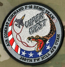 AIR COMBAT COMAND FIGHTING FALCON F-16 DEMO VIPER WEST 388TH FIGHTER WING SSI