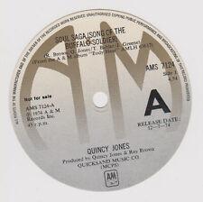 Quincy Jones - Unused surplus A&M Records record label for 1974 Uk promo single