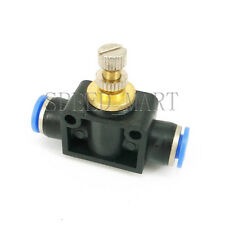 6mm Pneumatic Air Valve Flow Speed Control Throttle Push Inline One Touch NEW