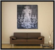 Direct from Artist, Painting, Canvas wall art, Large, Chandelier USA ELOISExxx