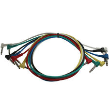 """3ft Right Angle 6 x 1/4"""" TRS Stereo Male to Male Snake Cable"""