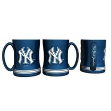 New York Yankees Coffee Mug Relief Sculpted Team Color Logo - 14 oz NEW