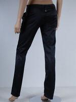 pantalon noir satiné slim FORNARINA taille jeans W 28 ( T 38 )