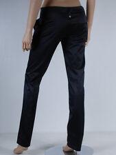 pantalon noir satiné slim FORNARINA taille jeans W 26 ( T 34-36 )