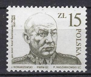 POLAND 1987 **MNH SC#2795 Gen K, SWIERCZEWSKI - WALTER