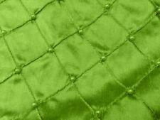 "APPLE GREEN EMBROIDERY PEARL BEADS 100% SILK DUPIONI FABRIC 54"" WIDE 1 YARD"