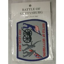 """THE BATTLE OF GETTYSBURG  JULY 1,2 & 3 1863 PATCH 4 1/4"""" x 3"""" NEW"""