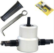 Nibbler Metal Cutting Double Head Sheet Nibbler Saw Cutter Tool Drill Attachment