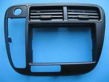 1999 2000 HONDA CIVIC center dash BEZEL black plastic radio trim surround GREAT!