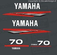 Adesivi motore marino fuoribordo Yamaha 70 cv  gommone barca stickers
