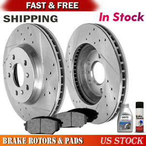 Front Rear Brake Discs Rotors For Buick Lucerne 2006-2011 V6 Drill and Slot