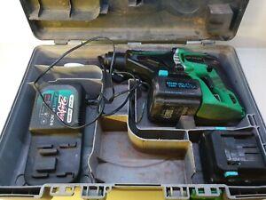 Hitachi 24v sds drill with 2 batteries