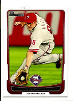 Chase Utley Philadelphia Phillies 2012 Bowman Baseball Card #184 Mint Centered