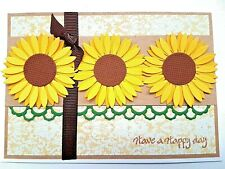 Handmade Card Birthday Sunflowers Any Occasion Stampin Up