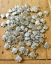 50 X TIBETAN SILVER FISH PENDANT CHARMS. JEWELLERY MAKING. CRAFT MAKING