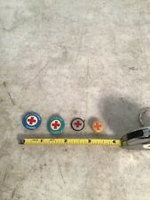 Collection of 4 Vintage Red Cross Pinbacks