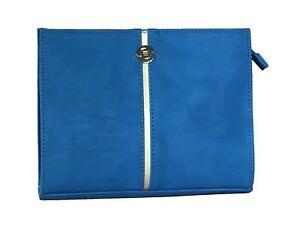 Elie Saab Resort Collection Clutch / Make-Up Bag Blue Faux Leather