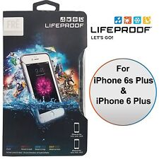 LifeProof FRE WaterProof Hard Case for iPhone 6 Plus 6S Plus White Grey NEW OEM