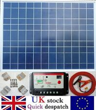 50w Solar Panel + 10A Charger Controller + Brackets + 6m cable for 12v Battery