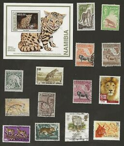 BIG CATS THEMATICS - 15 DIFFERENT STAMPS