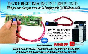 2 x Reset-Chip der Reset Device Imaging Unit für Konica Minolta C224 / C284