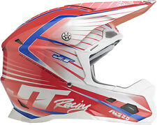 JT RACING ASL-2 MOTOCROSS MX ENDURO BIKE HELMET WHITE / RED / BLUE