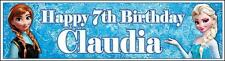 """2 PERSONALISED FROZEN BANNER 3ft - 36 """"x 11"""" PARTY, BIRTHDAY - ANY EVENT"""