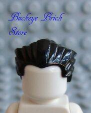 NEW Lego Minifig Slicked Back BLACK HAIR - Widows Peak - Dracula/Vampire NEW