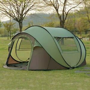CAMPING TENT Fully Automatic Speed Open Large 4/5 Persons Tent with Mosquito Net