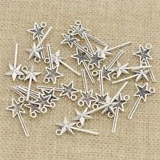 300Pcs Tibetan Silver Magic Wand Pendants Charms 25*12mm 1A1810