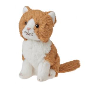 CUDDLIMALS GINGER CAT PLUSH SOFT TOY LEO 15CM SUPER SOFT STUFFED ANIMAL