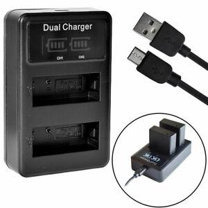 LCD DMW-BLG10 Battery charger for Panasonic Lumix TZ202 TZ91 TZ81 GX80 DC-GX9