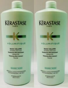 2 X Bain Volume 1000ML Kerastase + Free Pump