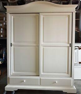 Closet 2 Doors Sliding Doors With 2 Drawers White Matt CMS 180x67x225H