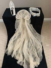 Vintage Beaded Wedding Headpiece/Veil, Garter & Cake Topper